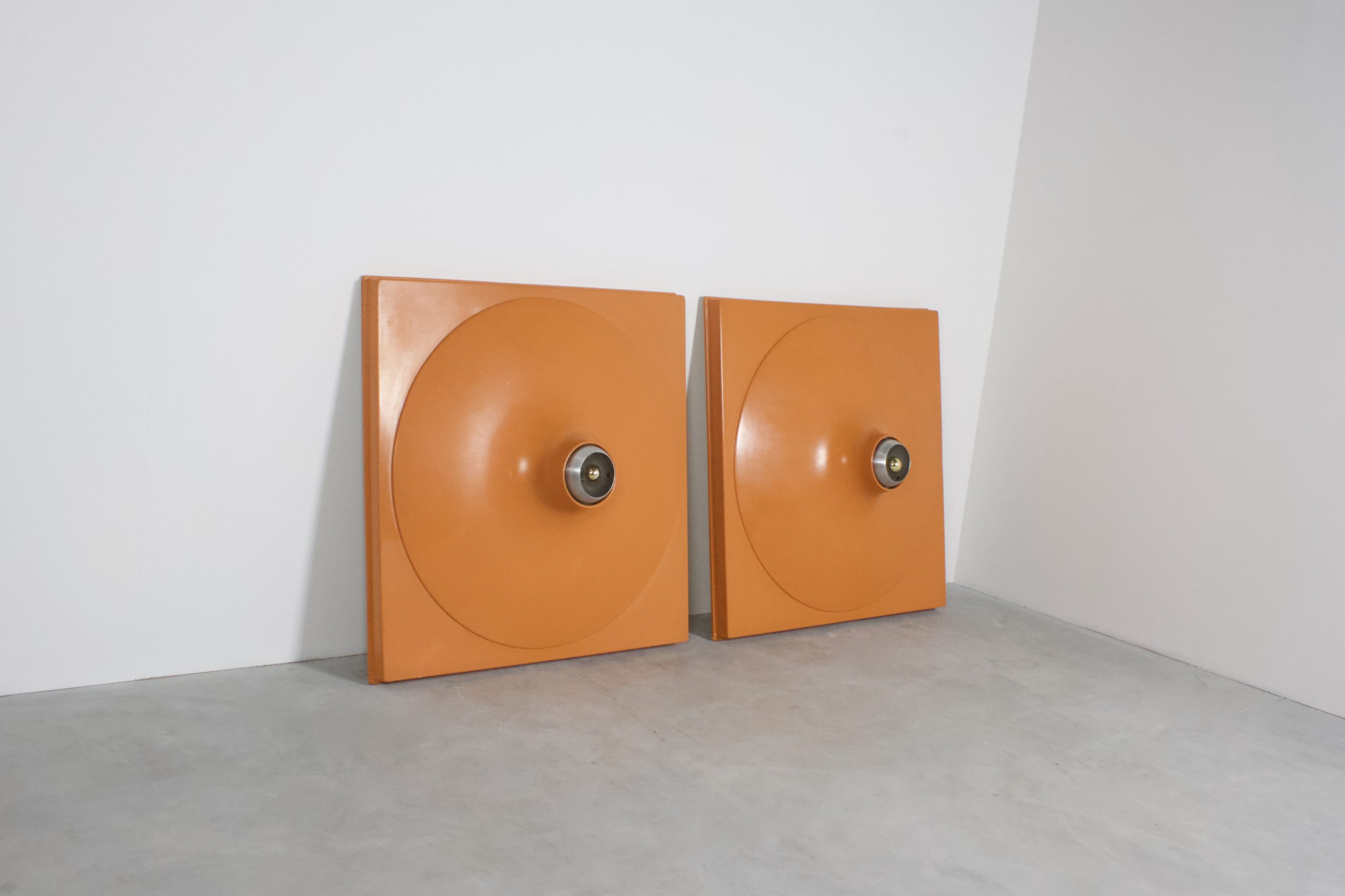 Set of Extra Large Space Age Wall Lights or Flush Mounts