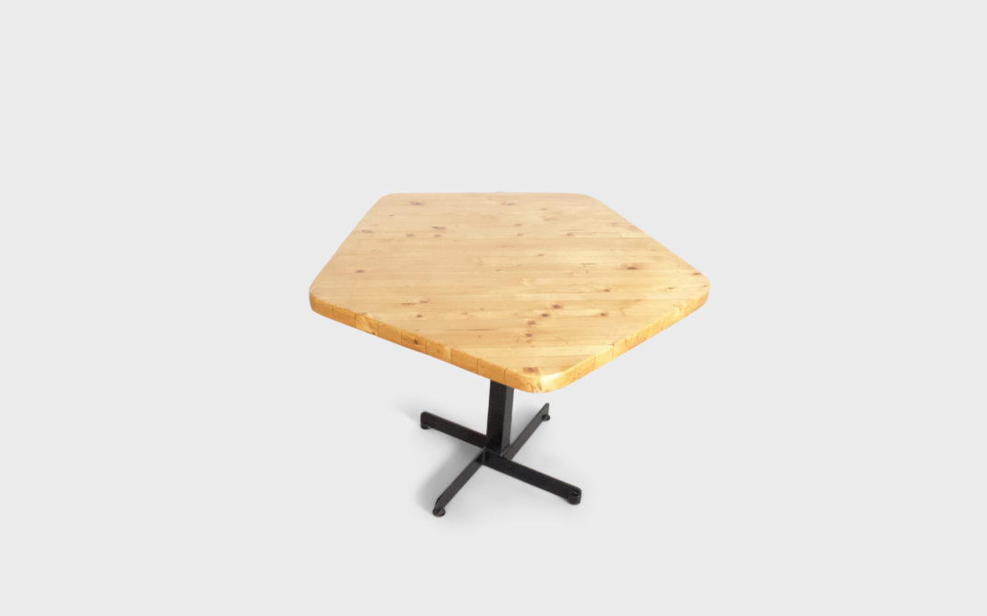 Charlotte Perriand Pentagonal 'Les Arcs' Dining Table