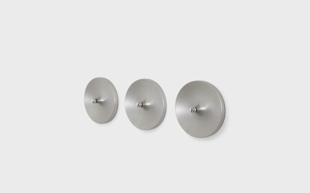 1/6 Large Aluminum Sconces Used by Charlotte Perriand in Les Arcs