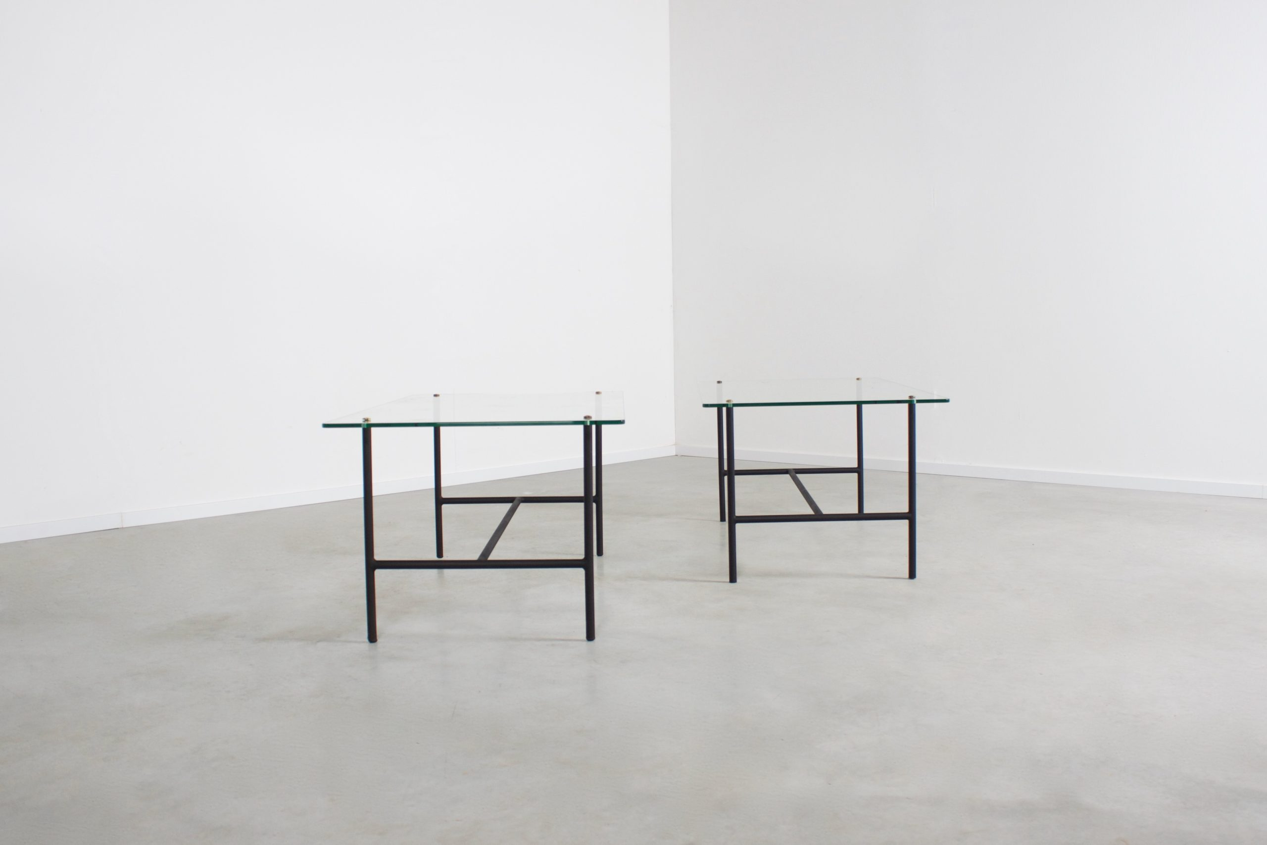 Mid-Century Metal and Glass Tables by Pierre Guariche