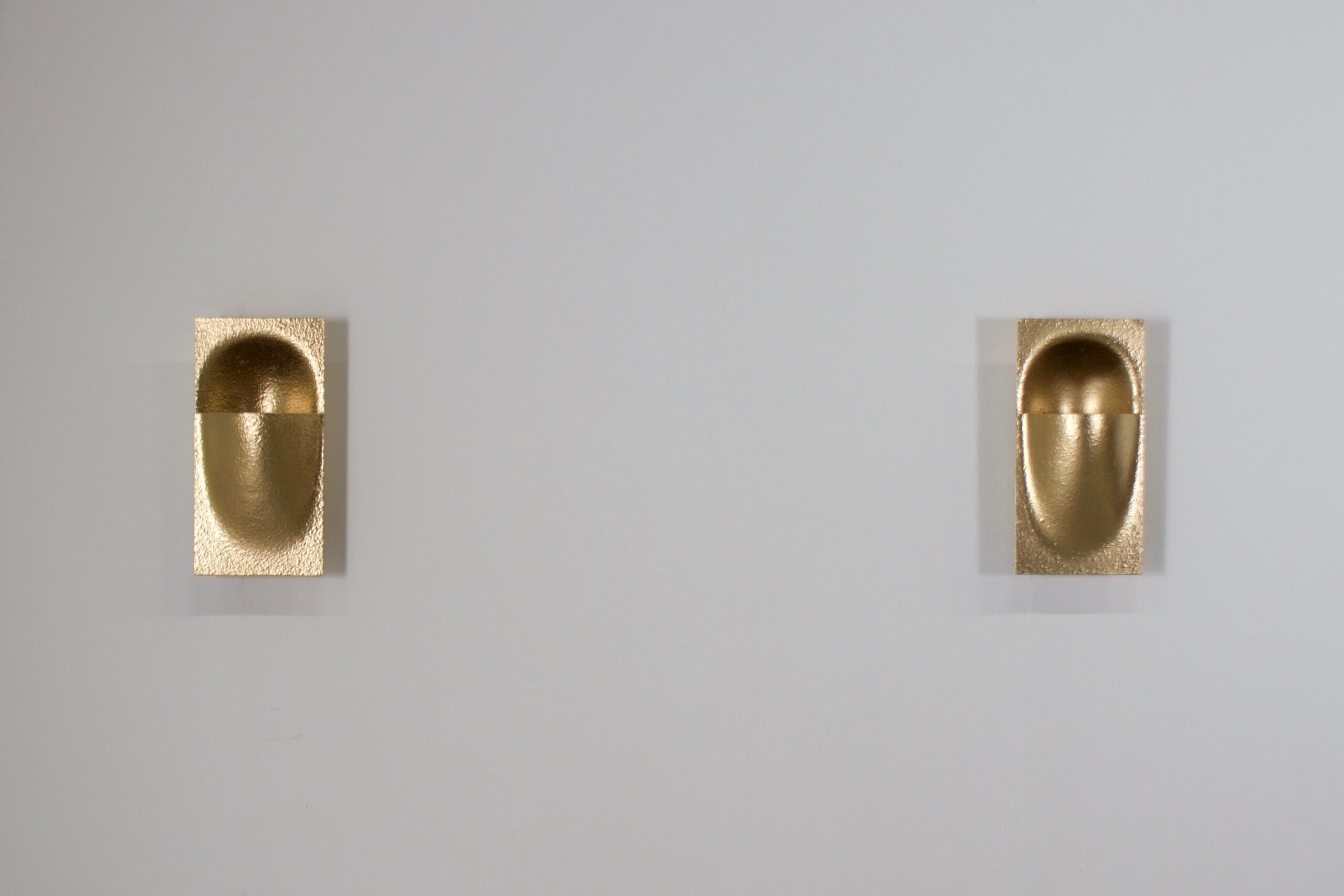 Gold Colored 'Balance' Sconces by Bertrand Balas for RAAK Amsterdam