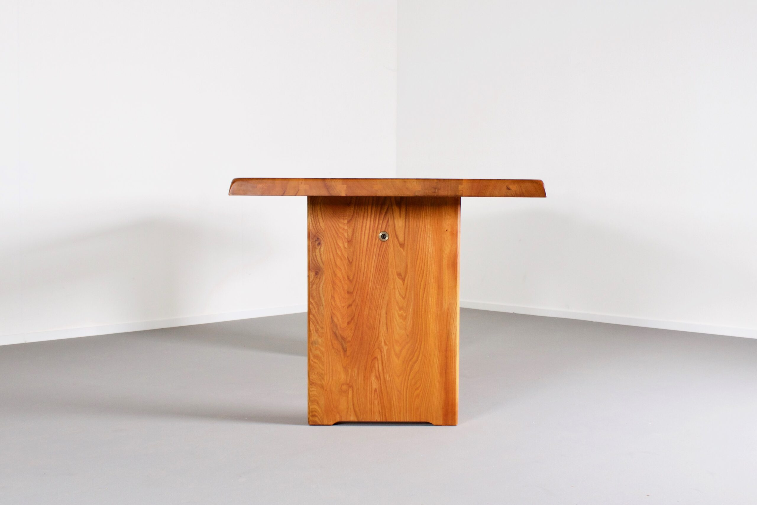 Pierre Chapo T14c Dining Table in Solid Elmwood