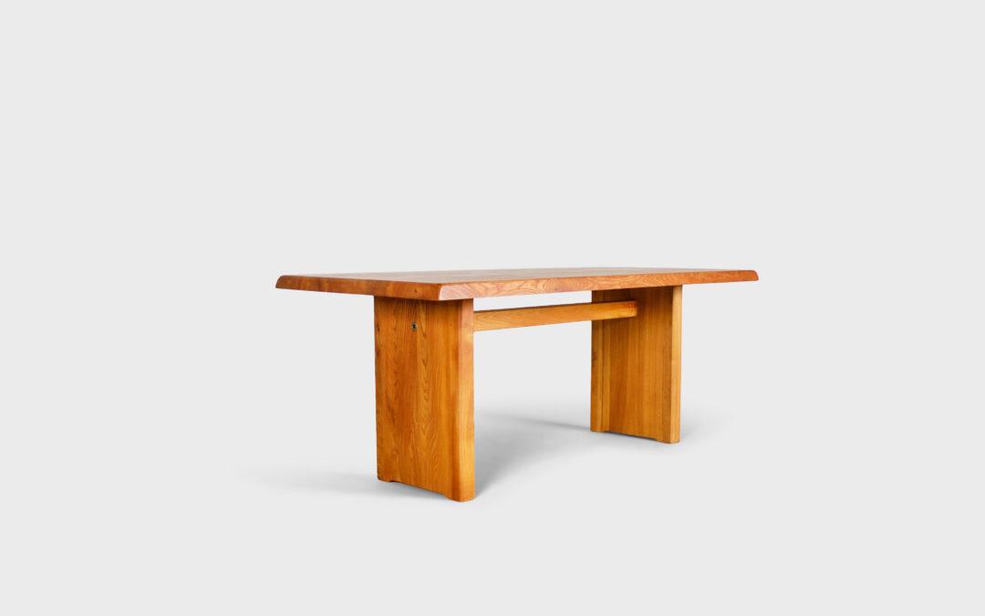 Impressive Pierre Chapo T14c Dining Table in Solid Elmwood