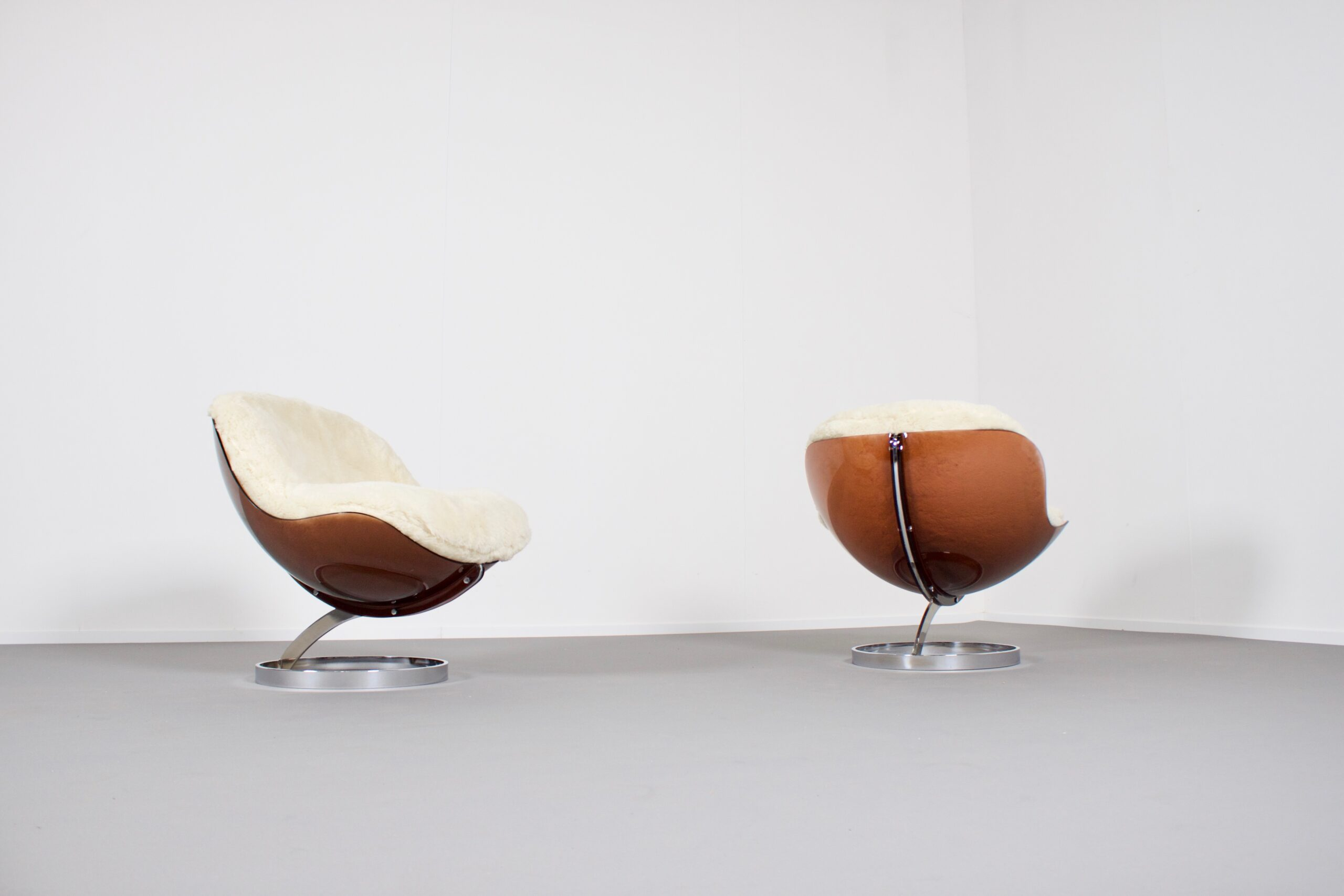 'Sphere' Lounge Chairs by Boris Tabacoff for MMM, France, 1971
