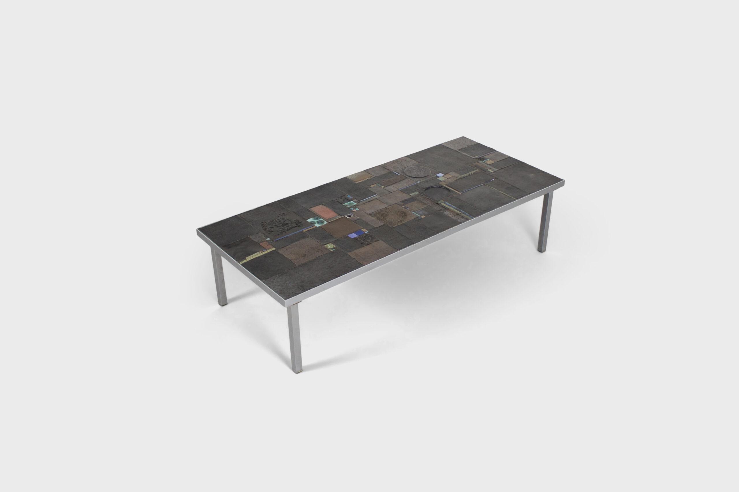 Pia Manu Table for Amphora, slate Mosaic